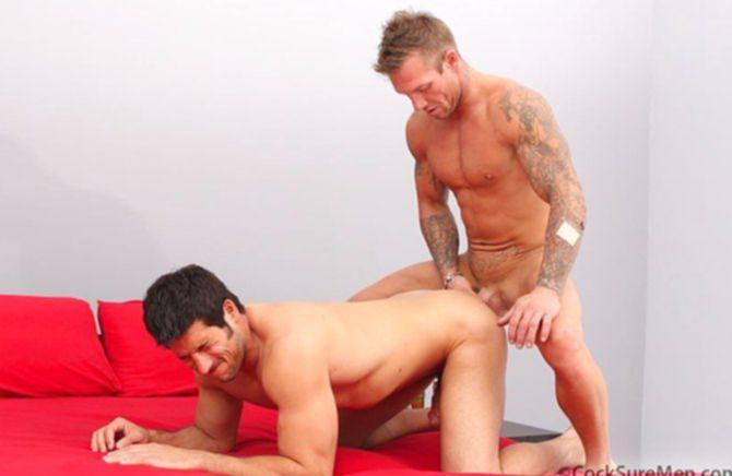 Притягательные мужики ебут друг друга и оргазмируют